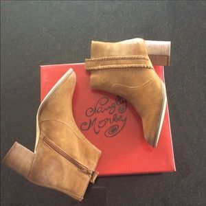 Naughty Monkey Suede Leather Slip On Boots